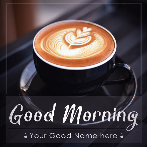 Write Name On Good Morning Images