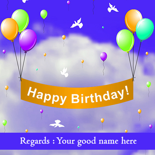 Birthday Wishes Card With Name Editing