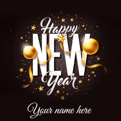 Happy New Year Greetings Card Image With Name