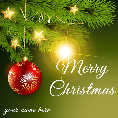 Merry Christmas Wishes Greetings and Pictures With Name