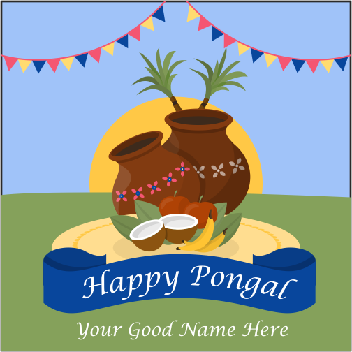 Pongal Wishes With Name