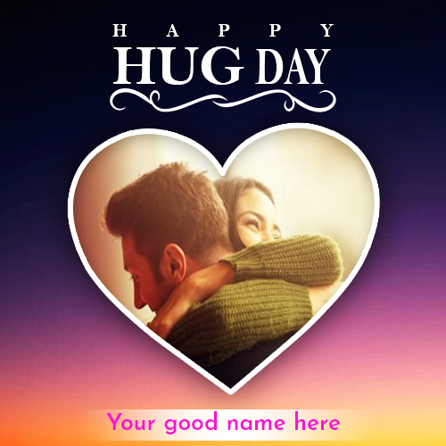 Hug Day Whatsapp DP With Name