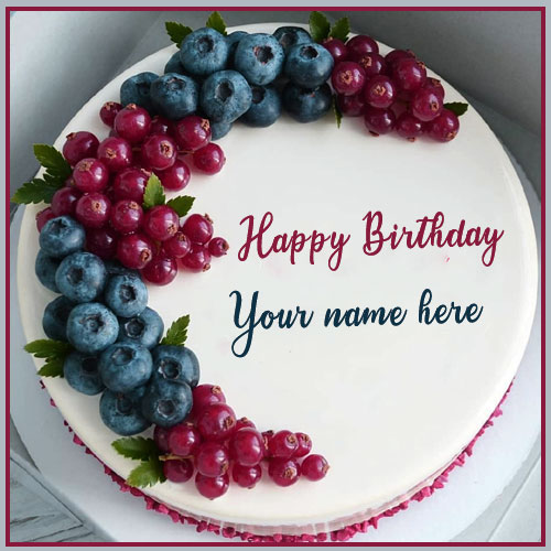 Happy Birthday Grapes Cake Images With Name