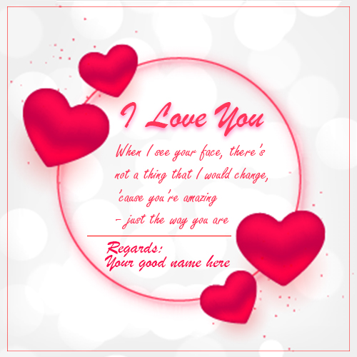 I Love You Wishes Greetings Card Images With Name
