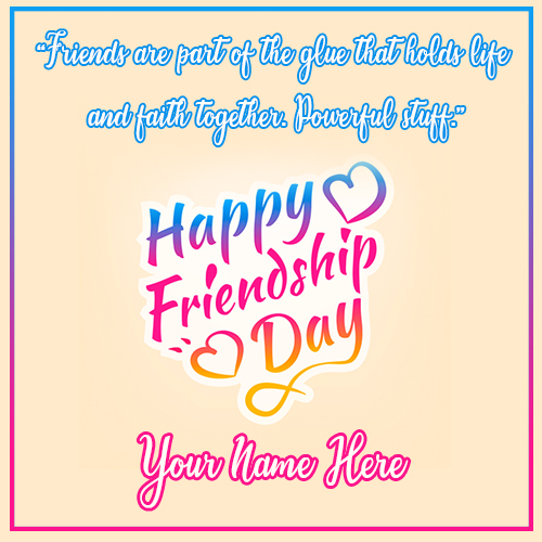Happy Friendship Day 2020 Quotes Images With Name