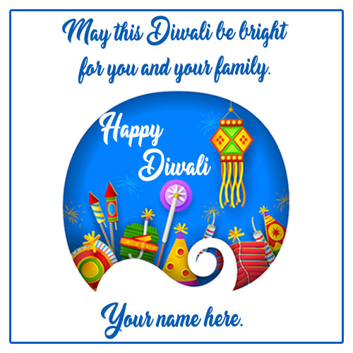 Happy Diwali Crackers Wishes Quotes Images With Name