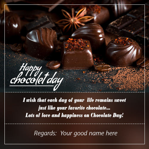 Chocolate Day Wishes Quotes Image With Name