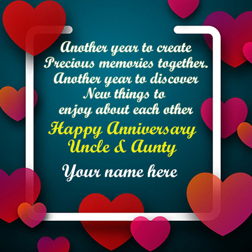 Anniversay SMS Greetings For Uncle And Aunty Images
