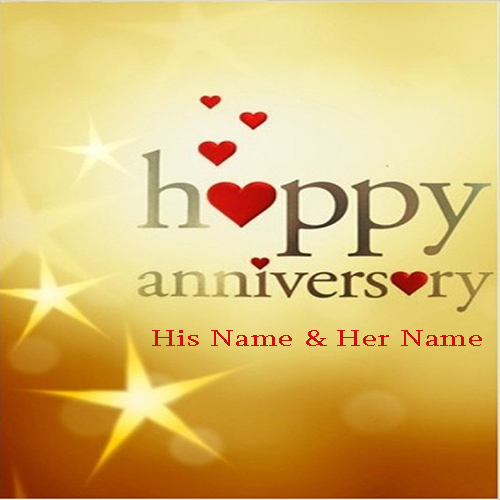 Anniversary Wishes Card With Name Online
