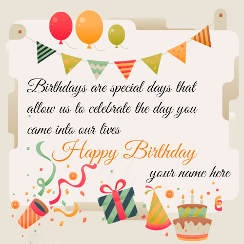 Happy Birthday Quotes Cards With Name and Photo