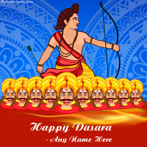 Happy Dasara Wishes Images With Name Online