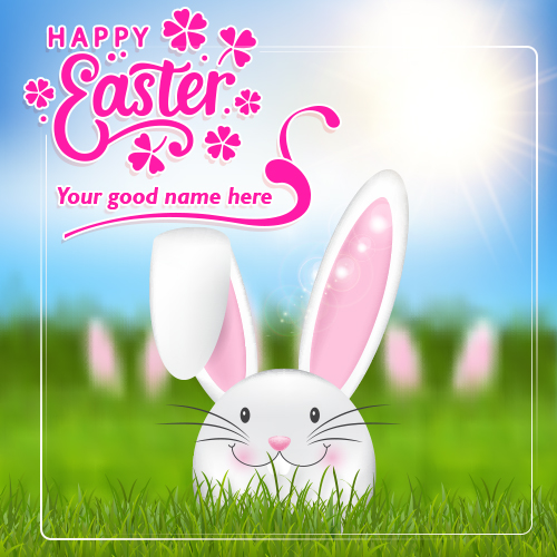 Write Name On Easter Day Wishes Images