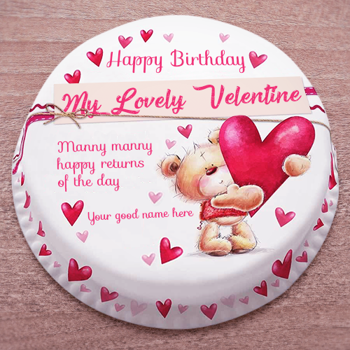 Valentine Cake With Name