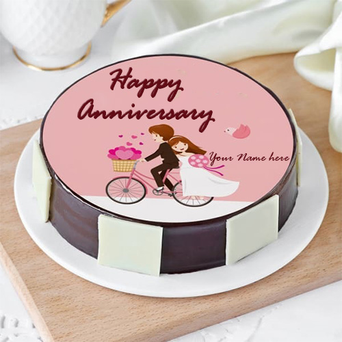 Couple Anniversary Cake Images With Name