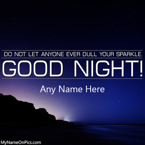 Write Name On Good Night Quotes Image
