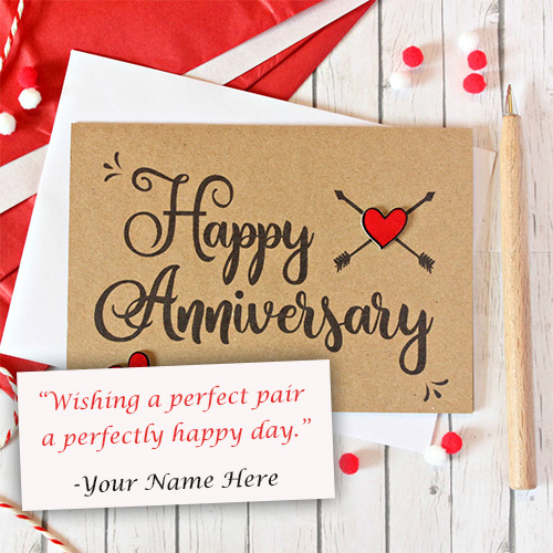 Happy Anniversary Card Wishes With Name