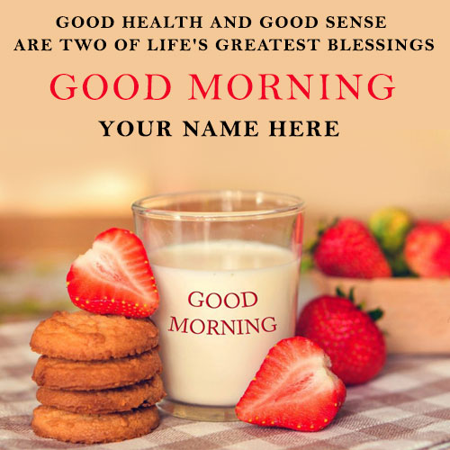 Good Morning Wishes Quotes Images With Name