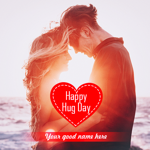 Write Name On Happy Hug Day 2019