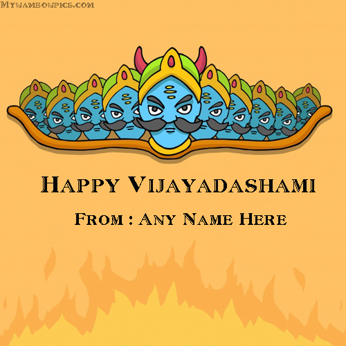 Vijayadashami 2018 Wishes Images With Name