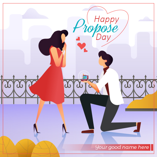 Romantic Propose Day Images With Name Edit