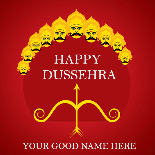 Happy Dussehra Images With Name and Photo