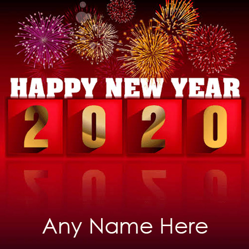 Happy New Year 2020 Card With Name