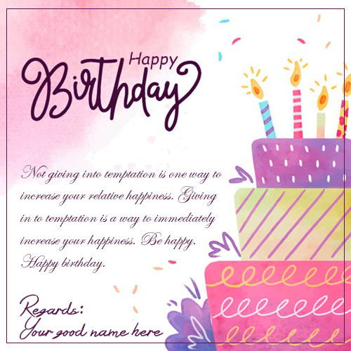 Beautiful Happy Birthday Wishes Quotes Images With Name