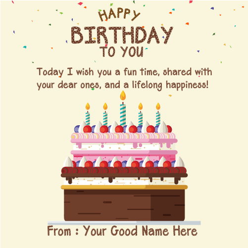 Birthday Card With Name Edit