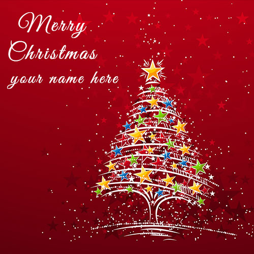 Personalized Merry Christmas Wishes Image With Name