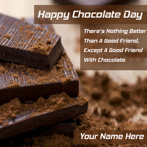 Chocolate Day Quotes Pics With Name Edit