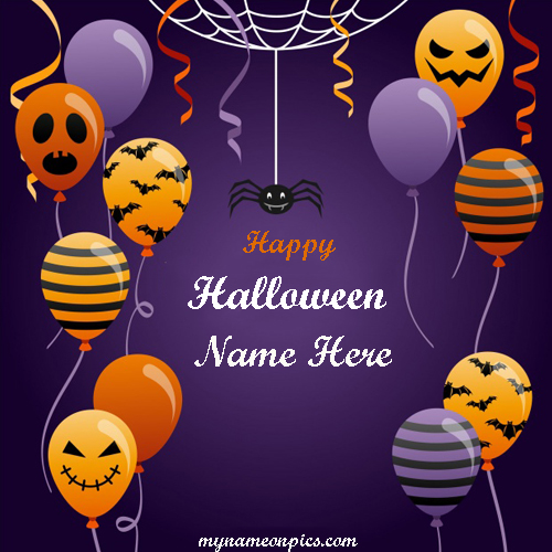 Happy Halloween Day Pic With Name