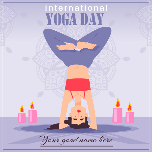 Happy Yoga Day 2021 Images With Name
