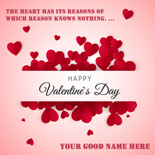 Romantic Happy Valentines Day Quotes Images With Name