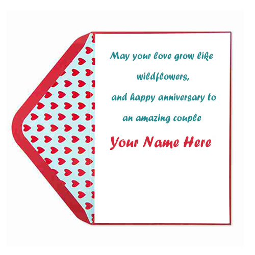 Happy Wedding Anniversary Card Images With Name