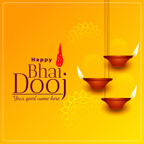 Happy Bhai Dooj 2021 Wishes Images With Name