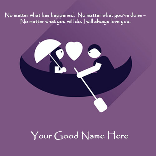 Romantic Love You Greetings Cards With Name