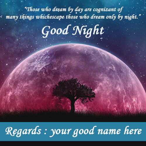 Write Name On Good Night Moon Images With Best Quotes