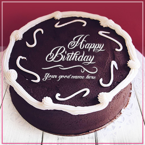 Write Name On Chocolate Birthday Cake Image
