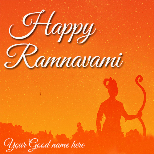 Happy Ram Navami 2020 Greetings Card With Name