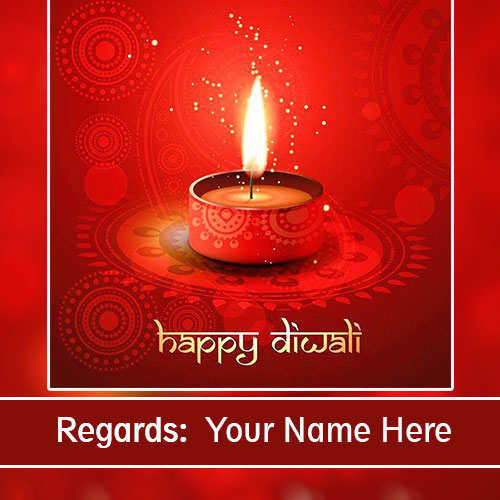 Happy Diwali Greetings Card With Name