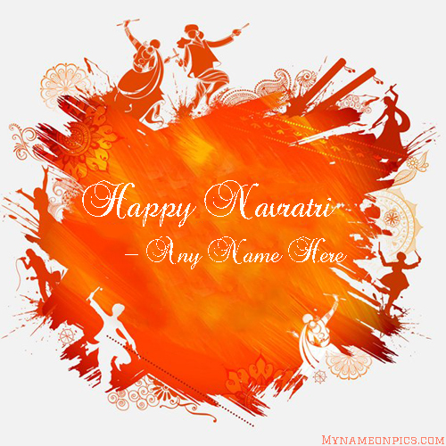 Happy Navratri Dandiya Raas Images With Name