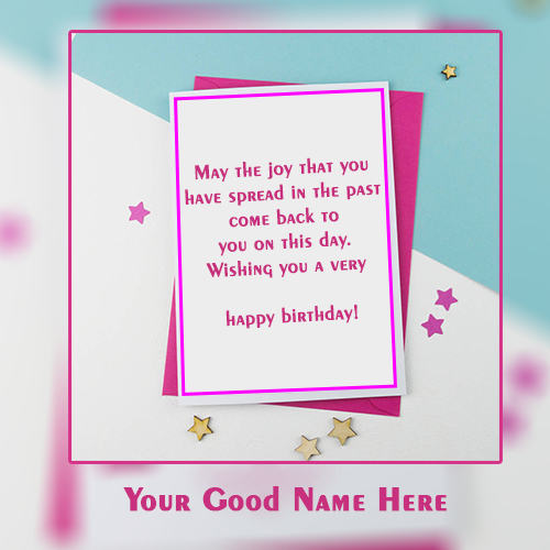 Write Name On Birthday Greetings Card Images