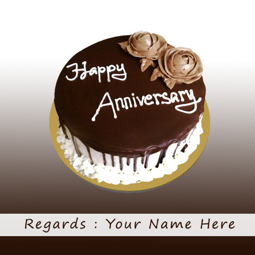 Write Name On Happy Anniversary Cake With Quotes
