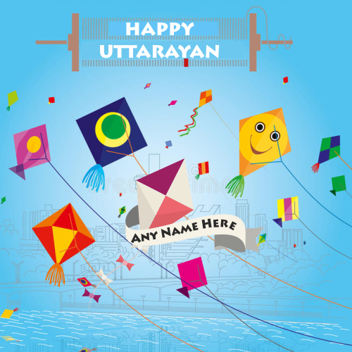 Happy Uttarayan 2019 Kite Festival With Name