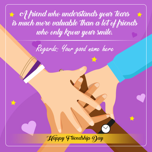 Happy Friendship Day 2021 Wishes Images With Name