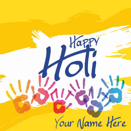 Happy Holi 2019 Image With Name