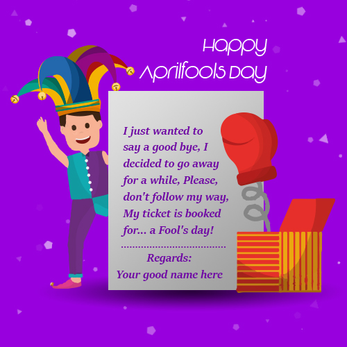 April fool day 2019 Greeting Cards With Name