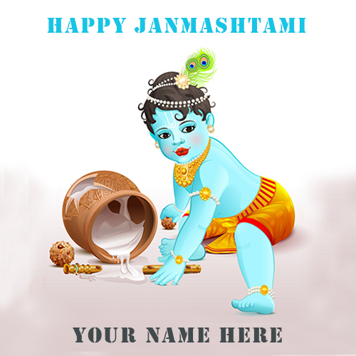 Happy Janmashtami Images With Name and Photo