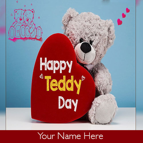 Happy Teddy Day Images With Name Edit