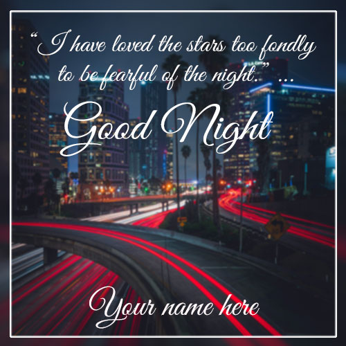 Write Name On Good Night Wishes Greetings Card Pictures